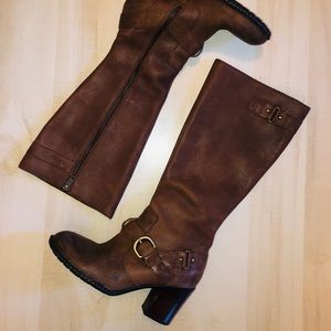 B.O.C. Born Brown Leather Harness Riding Boots 9